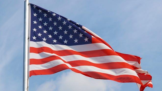 The United States flag.
