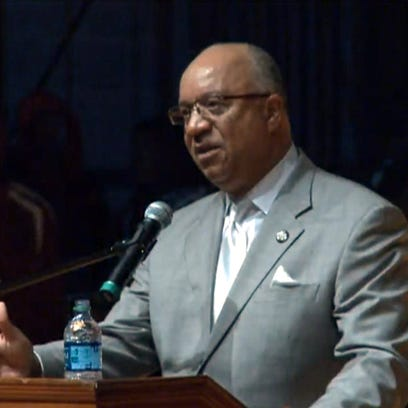 South Carolina State Univ. President Thomas Elzey speaks