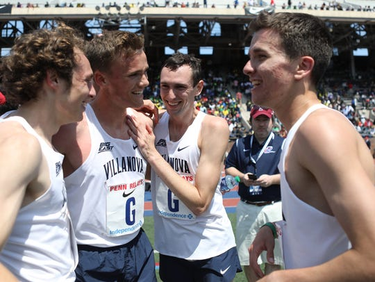 Ben Malone (3rd from left), and his Villanova teammates