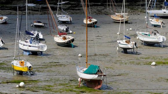 Low tide in the estuary.