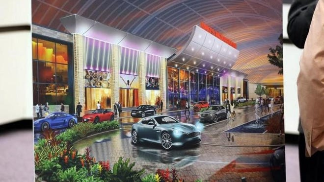 This rendering was shown during a celebration earlier this year when the casino got approved.
