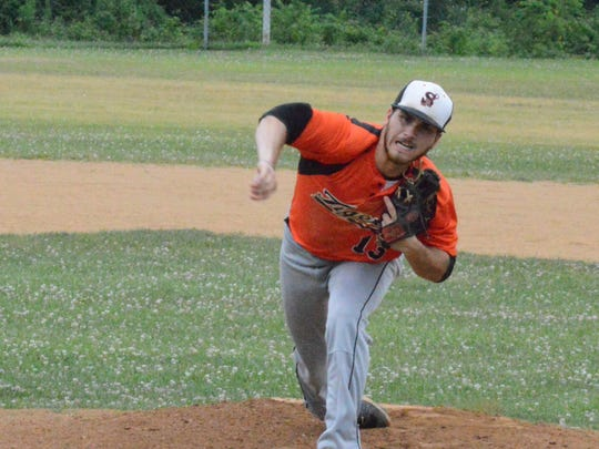 Stoverstown's Ryan Kehr, seen here in a file photo, allowed one run over five innings on Monday against East Prospect.