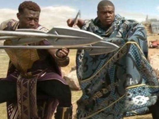 "Hasaan Rasheed (left) is a king's warrior in ""Black"