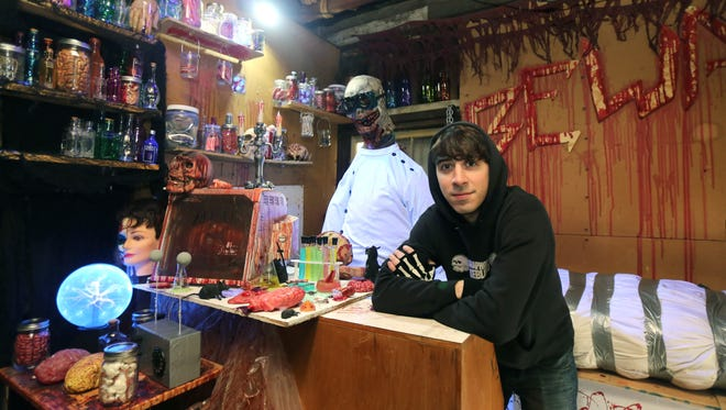This is the fifth year that Chris Arturi of Stony Point has converted his garage into a free haunted house on Saturday evenings in October. The haunted house is open 8 p.m. until midnight.