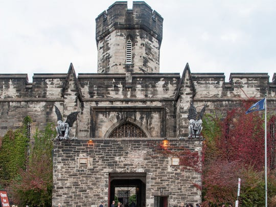 """Located in the Fairmount section of Philadelphia, Eastern State Penitentiary was one of the most famous prisons in the world, with a list of former inmates that includes bank robber """"Slick Willie"""" Sutton and gangster Al Capone. No longer in use, the crumbling cellblocks and empty guard towers are a ghost of the grand architecture for which the prison was known. The penitentiary offers tours year-round and in the fall features the popular—and frightening—""""Terror Behind the Walls"""" haunted house."""