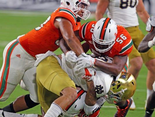 Notre Dame vs. Miami college football