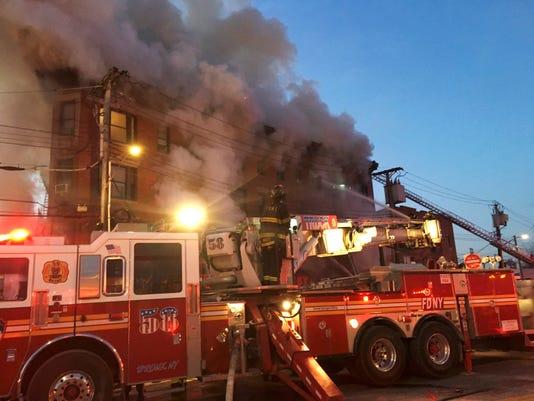 AP BRONX BUILDING FIRE A USA NY