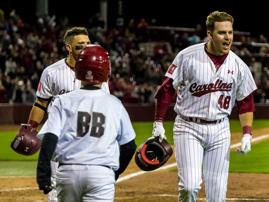 South Carolina Gamecocks infielder Matt Williams (48)