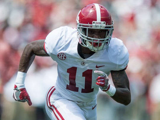 Alabama wide receiver Henry Ruggs III (11) during the