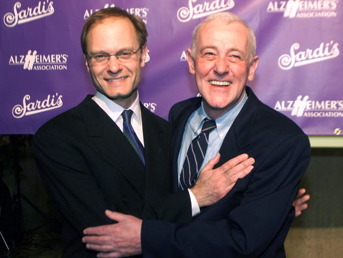 John Mahoney, right, pictured with David Hyde Pierce,