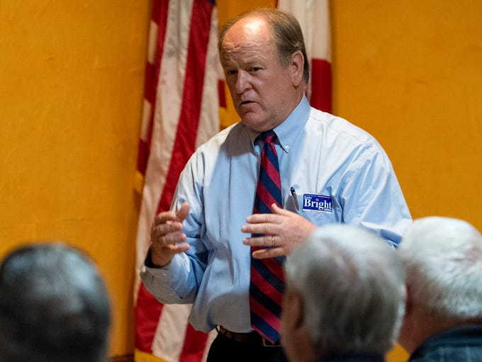 U.S. congressional candidate Bobby Bright speaks to