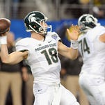 MSU could have its largest NFL draft class of the seven-round era - including, from left, Shilique Calhoun, Jack Allen and Connor Cook.