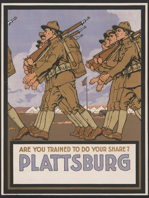 Plattsburg, N.Y., was one of the very first World War I training camps.