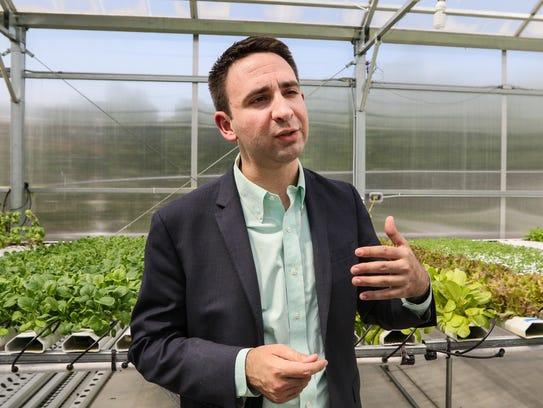 Bryant Avondoglio, talks about the fresh vegetables