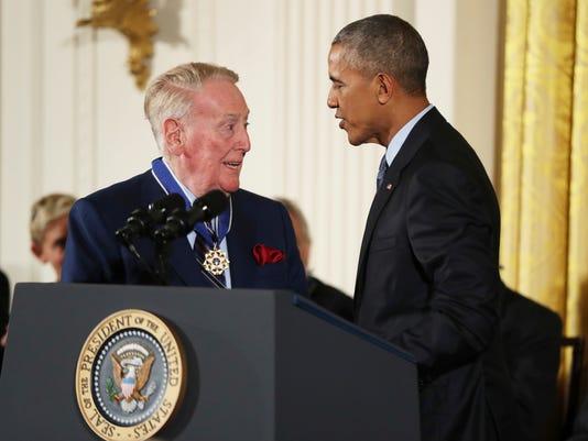 Barack Obama, Vin Scully