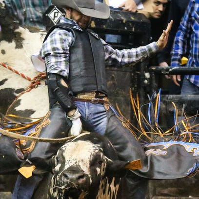 Goldthwaite bull rider steals show at Cinch Chute-Out