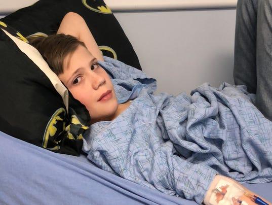Dominic undergoes treatment