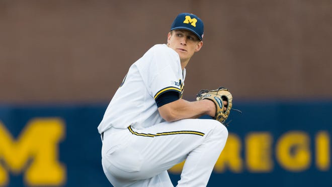 Michigan pitcher Oliver Jaskie
