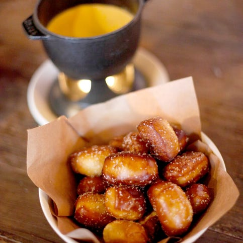House made soft pretzels and warm provolone fondue from Culinary Dropout.
