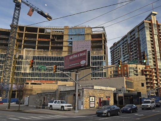 The Station Inn is a little oasis of bluegrass that has now become a place to build condos and apartments as construction booms in the Gulch.  Thursday Feb. 18, 2016, in Nashville, Tenn.