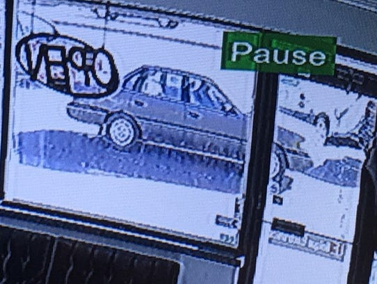 Surveillance photo of a suspect vehicle in the Friday