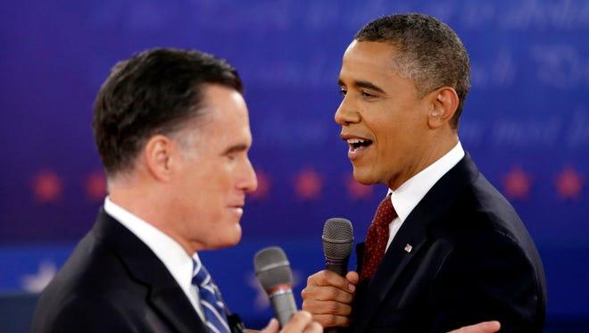 President Obama and Mitt Romney in 2012.