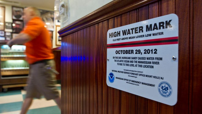 The official high water mark at Leggetts.