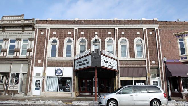The Hardacre Theater is seen in Tipton on Saturday, Jan. 11, 2014.   David Scrivner / Iowa City Press-Citizen.