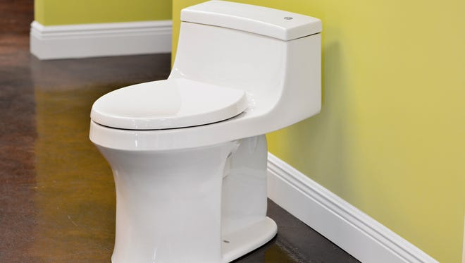 The San Souci offers a sleek design and touchless flush.