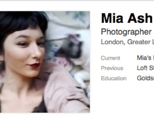 A fake LinkedIn profile used to lure professionals
