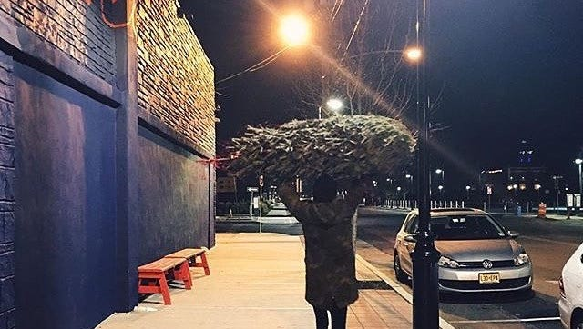 Pick up a pizza pie and Christmas tree at Porta in Asbury Park.