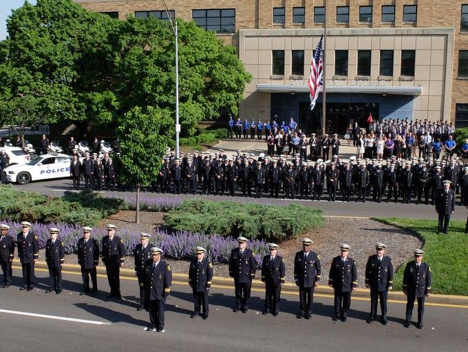 The 2018 Cincinnati Police Department ceremonial inspection.