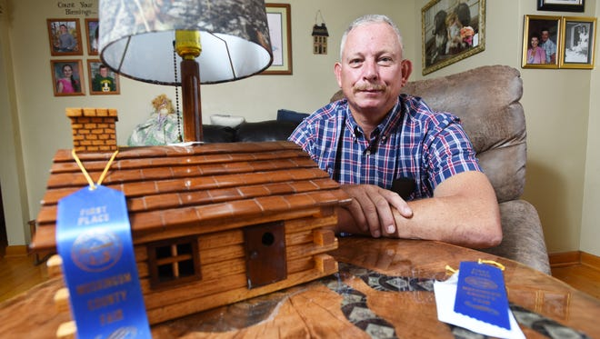 Jerry Moore's woodworking hobby earned him first place at the Muskingum County Fair.