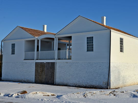 Work will begin this spring on the stockade fence at the Fort Howard Guard House and Commanding Officer's Office exhibit at Heritage Hill State Historical Park. The first shipment of logs for the stockade began arriving Monday, Feb. 23.