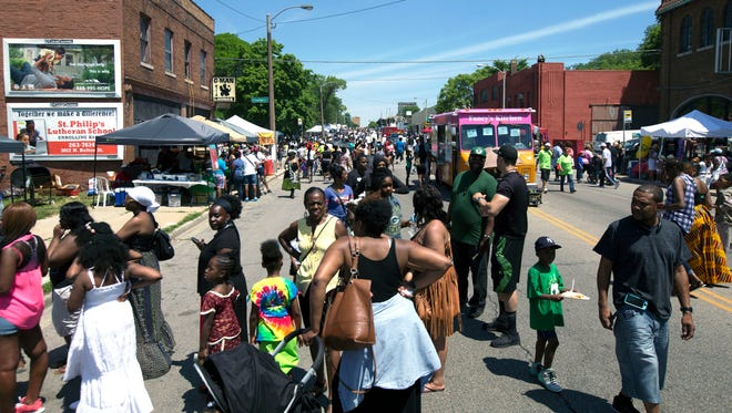 Festival-goers fill King Drive for Juneteenth Day on June 19, 2016