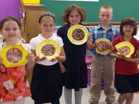 St. Mary Elementary School first-grade students recently