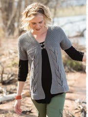 This top-down cardigan has an unusual construction, and I think it's a perfect sweater for spring/summer.