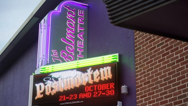 The Belmont Theater's new marquee Wednesday October 11, 2016.