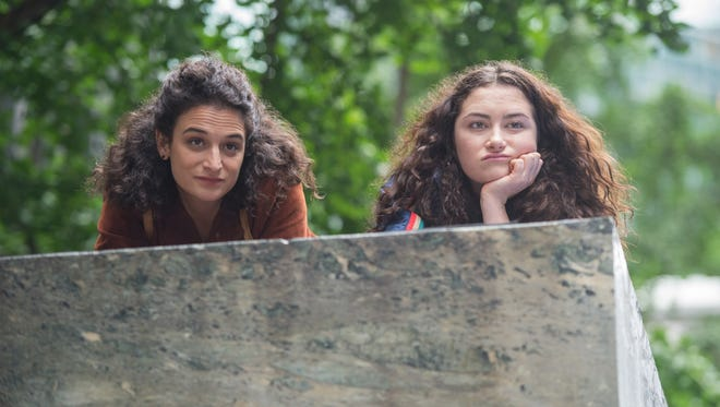 "Jenny Slate (left) and Abby Quinn star in ""Landline."""