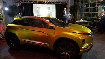 While larger rivals had showcases at the Detroit auto show, Mitsubishi Motors unveiled two concepts down the street at the Port Authority.