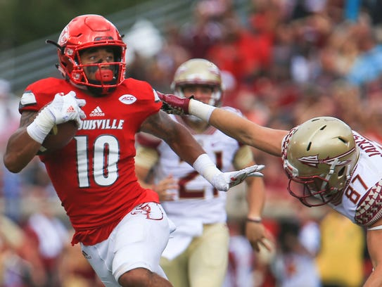 Louisville's Jaire Alexander had a punt return touchdown