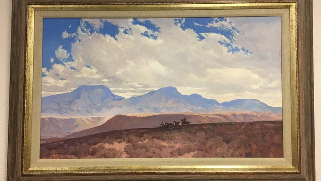 Landscape oil paintings, by Russell Waterhouse, will be on display at Susan Eisen Fine Jewelry and Watches on the West Side.