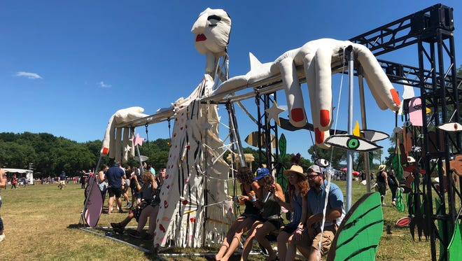 Art installations at Eaux Claires this year allowed fan interaction, and sometimes featured special performances.