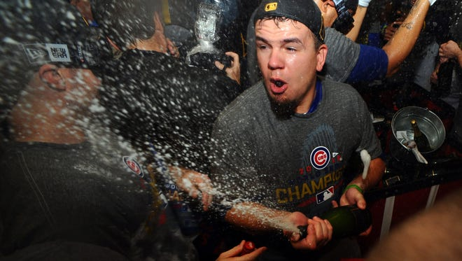 Middletown's Kyle Schwarber reached base in 10 of his 20 plate appearances for the Cubs during the World Series.