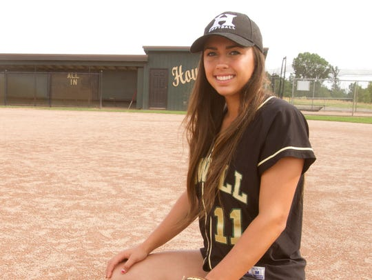 Howell High School's Veronica Pezzoni, who played second