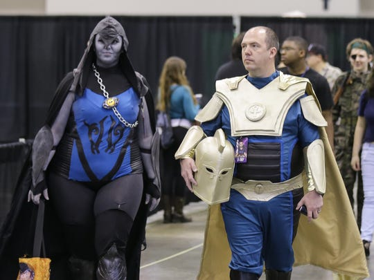 Cosplay fans gather at Indy PopCon 2018 held at the
