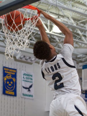 Pope John's James Scott goes to the hoop. Pope John defeats Christian Brothers Academy in the NJSIAA boys basketball Non-Public A state final. Toms River, NJSaturday, March 14, 2015Doug Hood/Staff Photographer@dhoodhood