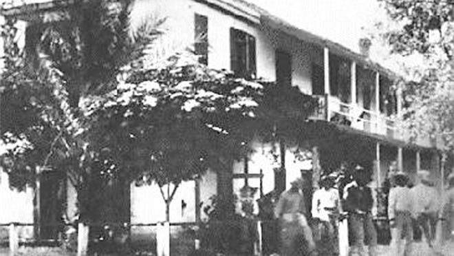 The expanded second floor of the Hayden house is seen in this early 20th-century photo, looking at the southwestern corner.