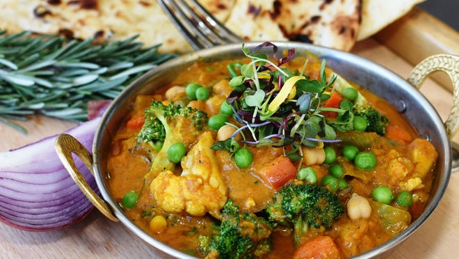 The vegetable curry at Marigold Maison.