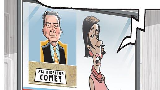 FBI Director Comey testifies before Congress.
